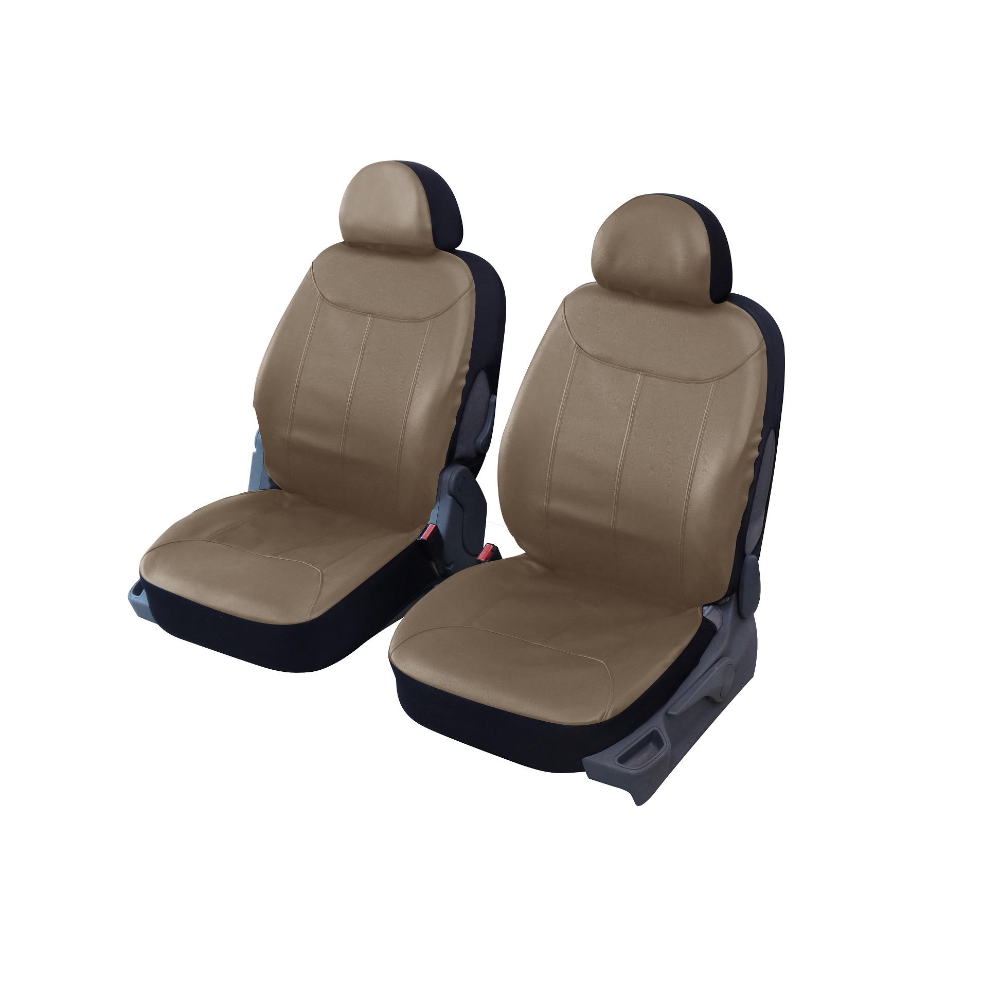 Housse de si ge auto universelle simili cuir beige texas 2 for Housse cuir siege auto