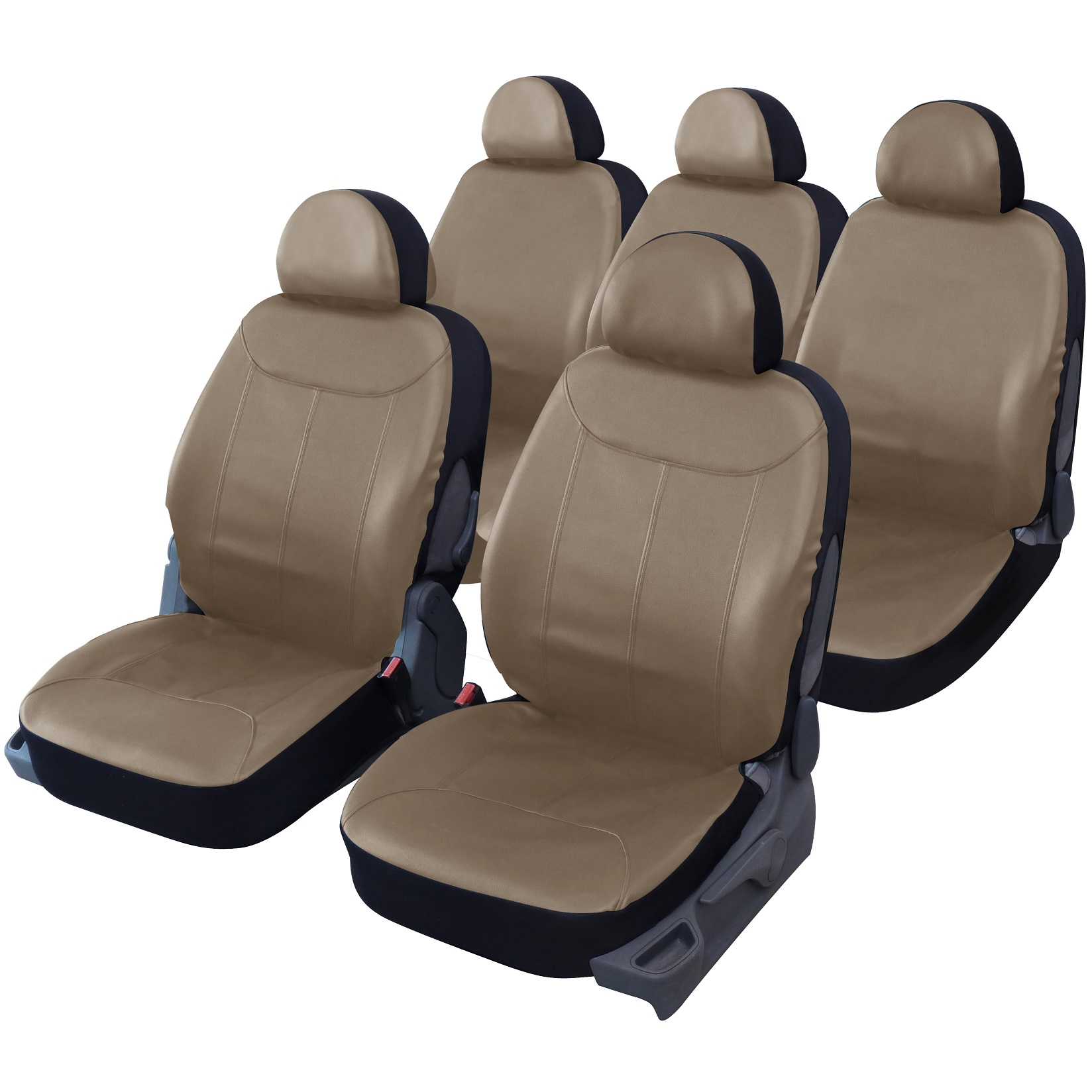 Housse de si ge auto universelle simili cuir beige texas for Housse siege auto cuir
