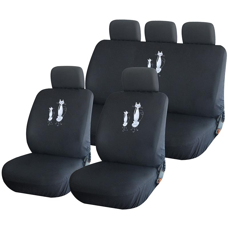 housse de si ge auto universelle chat pour voiture citadine housse auto. Black Bedroom Furniture Sets. Home Design Ideas