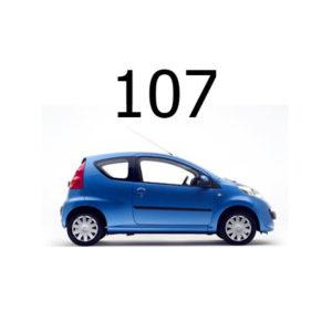 Housse siege auto Peugeot 107