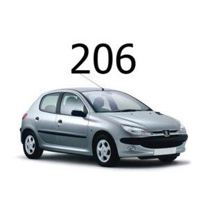 Housse siège auto Peugeot 206