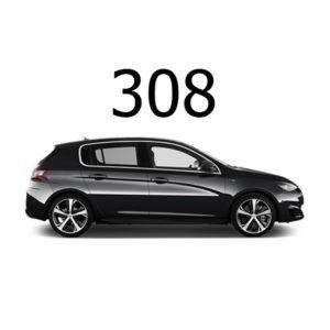 Housse siège auto Peugeot 308