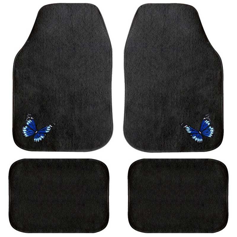 tapis de sol auto fantaisie motif papillon housse auto. Black Bedroom Furniture Sets. Home Design Ideas