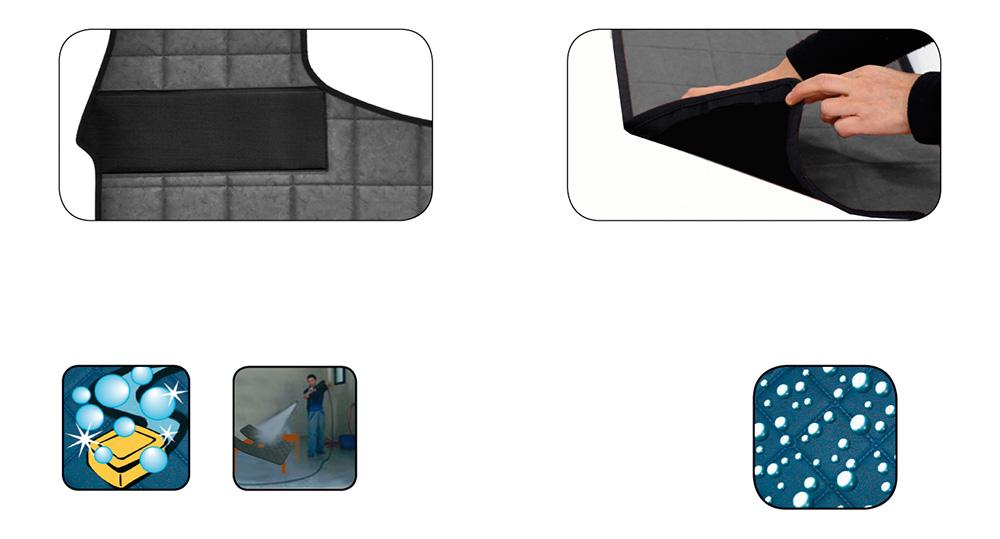 Tapis de sol pour fourgon (détails)